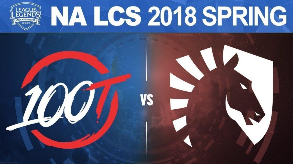 100 Thieves vs Team Liquid - NA LCS Spring Split 2018