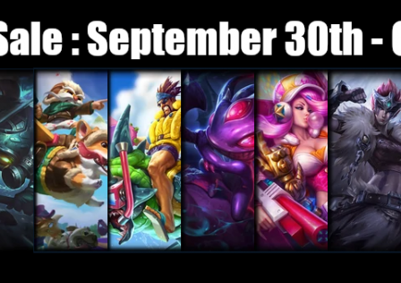 Champions and Skin Sale September 30th – October 7th, 2019