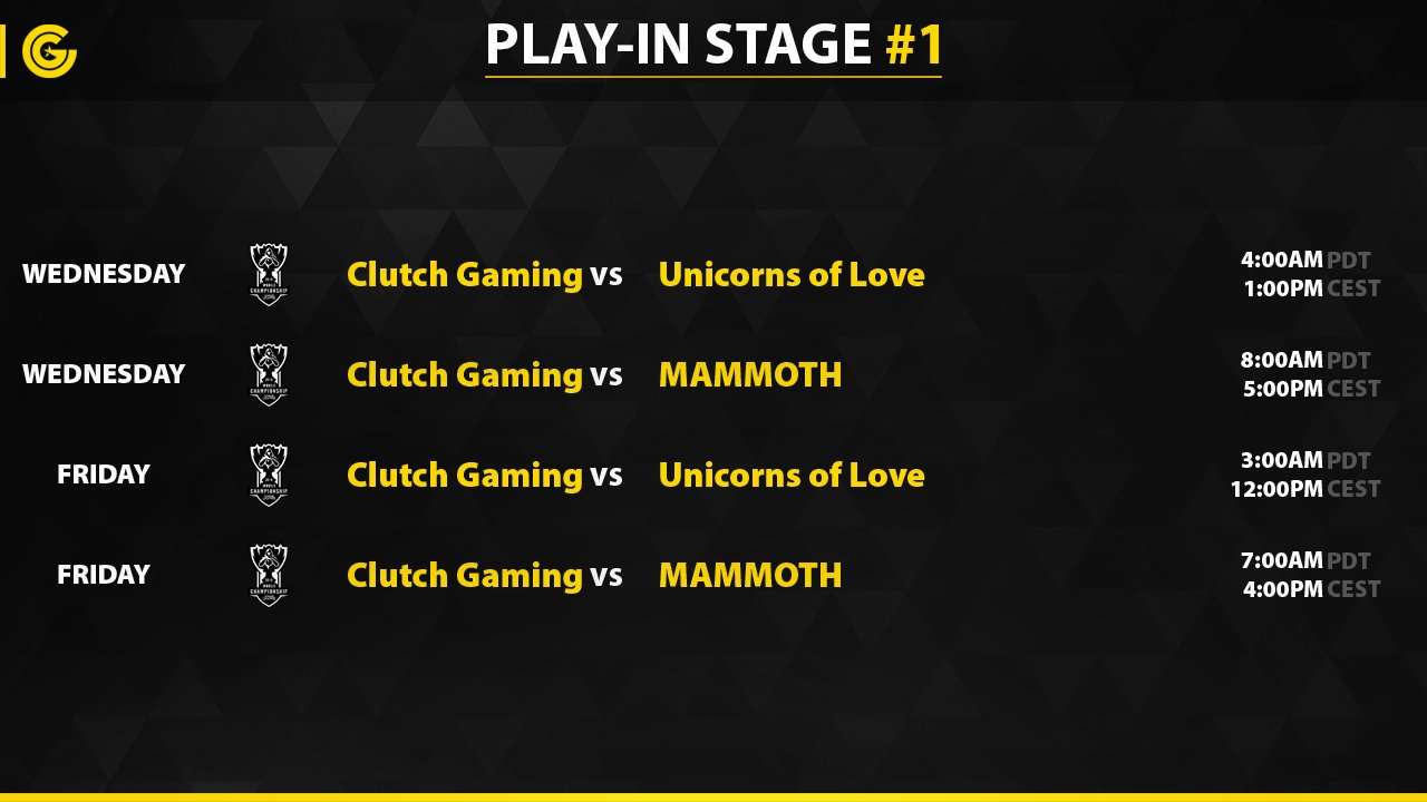 Play in Stage #1 Clutch Gaming